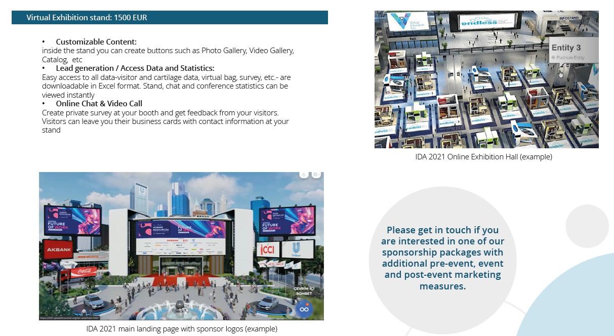 IDA 2021 Virtual Exhibition Information
